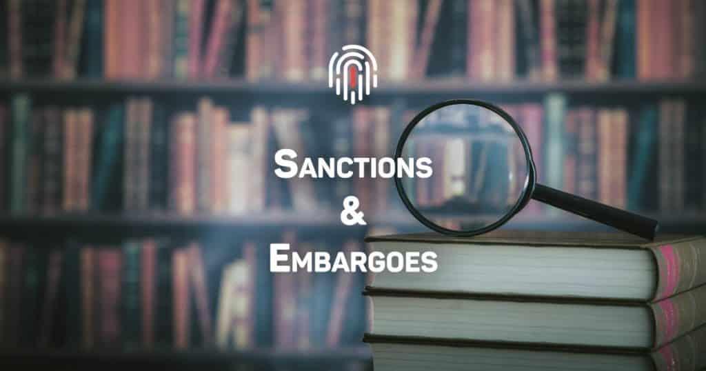 sanctions & embargoes